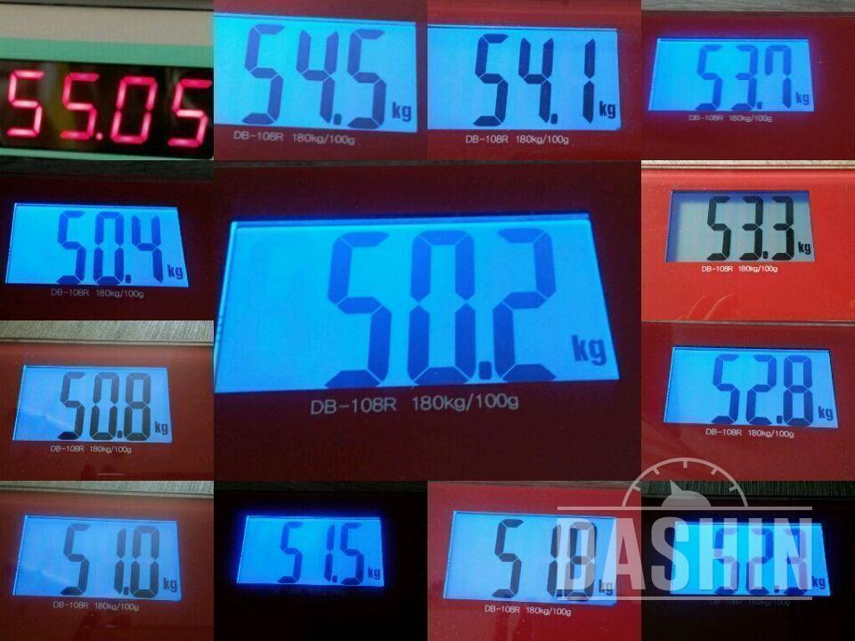 ●사진추가 38일차 56.6kg -> 50.2kg (6kg감량)