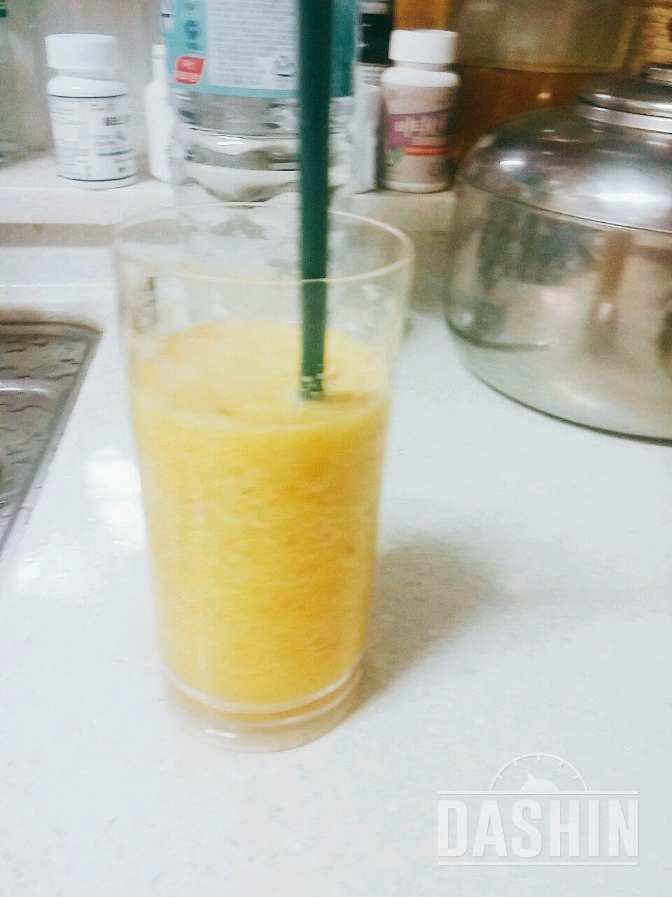 오렌지+사과 주스