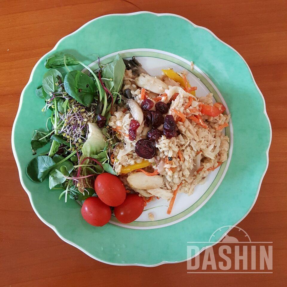 350kcal 현미밥 버섯 야채 굴소스 볶음밥