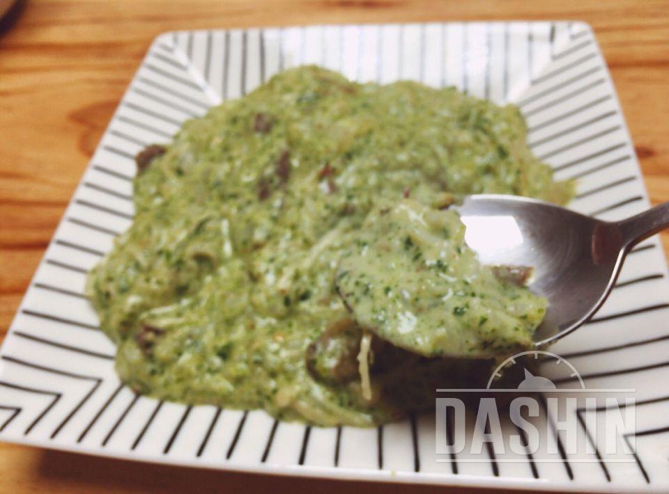 참나물페스토 소고기 버섯 리조또!!