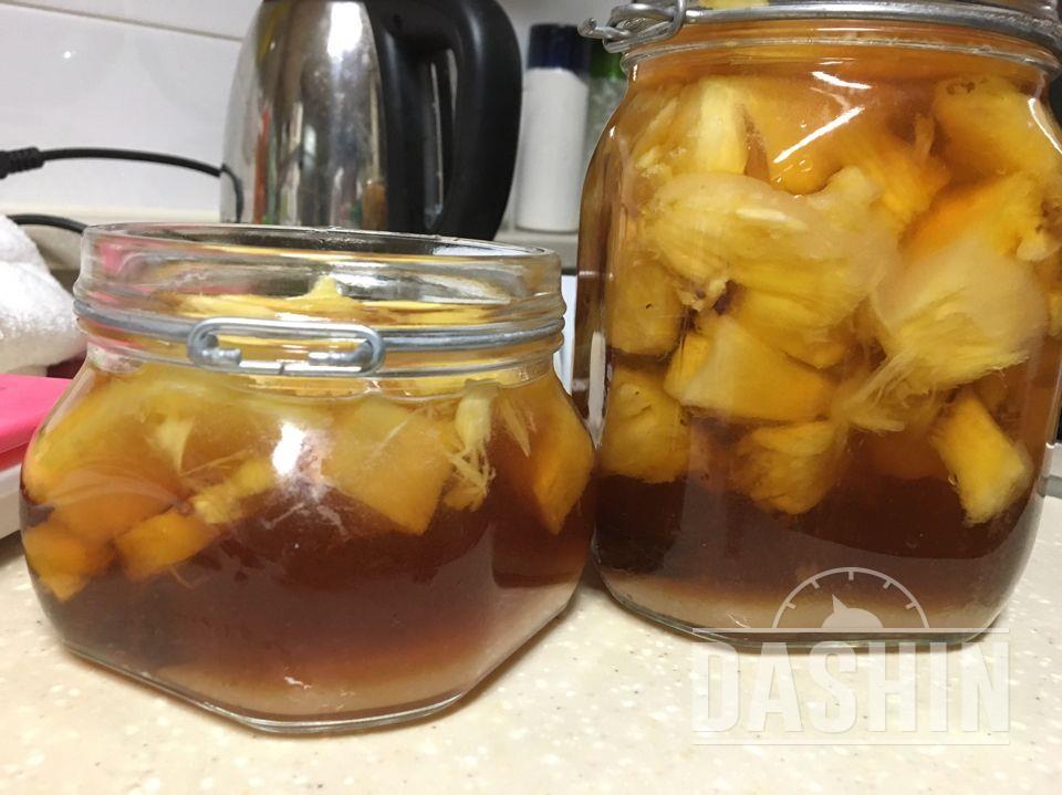 파인애플식초만들었어요 :)