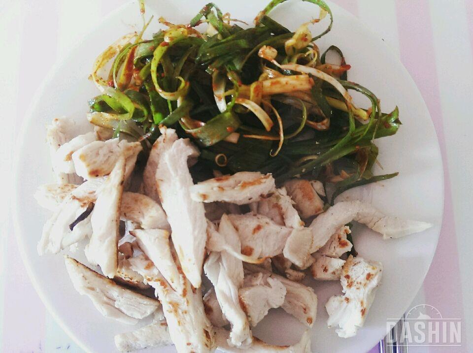 닭가슴살 파채무침