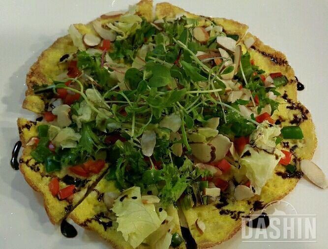 맛있는 다이어트 달걀 건과류 피자!