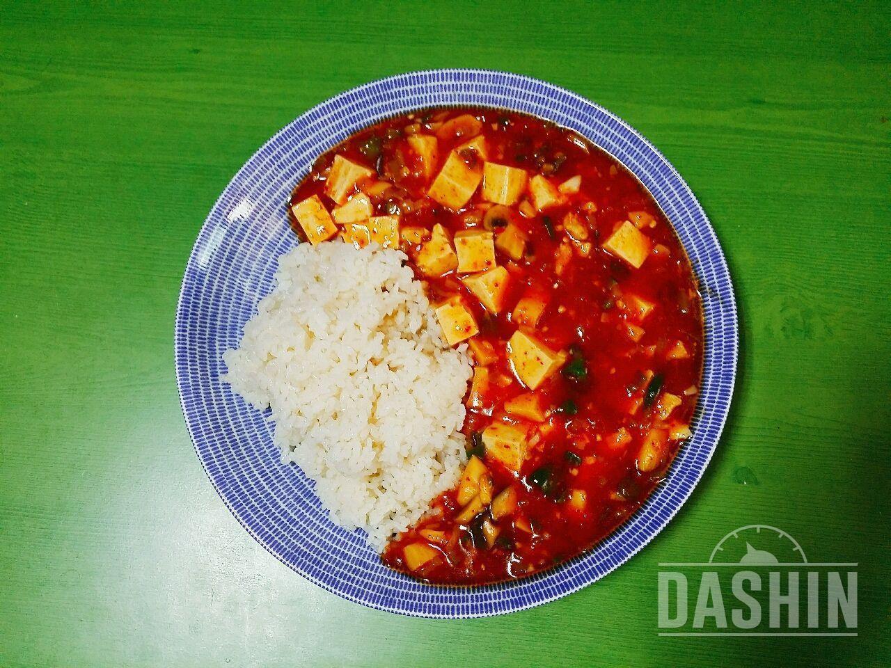 야채듬뿍 마파두부(2인분)