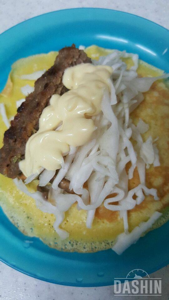 (더라이트)버섯프리타타와그린샐러드 응용ㅡ크레페