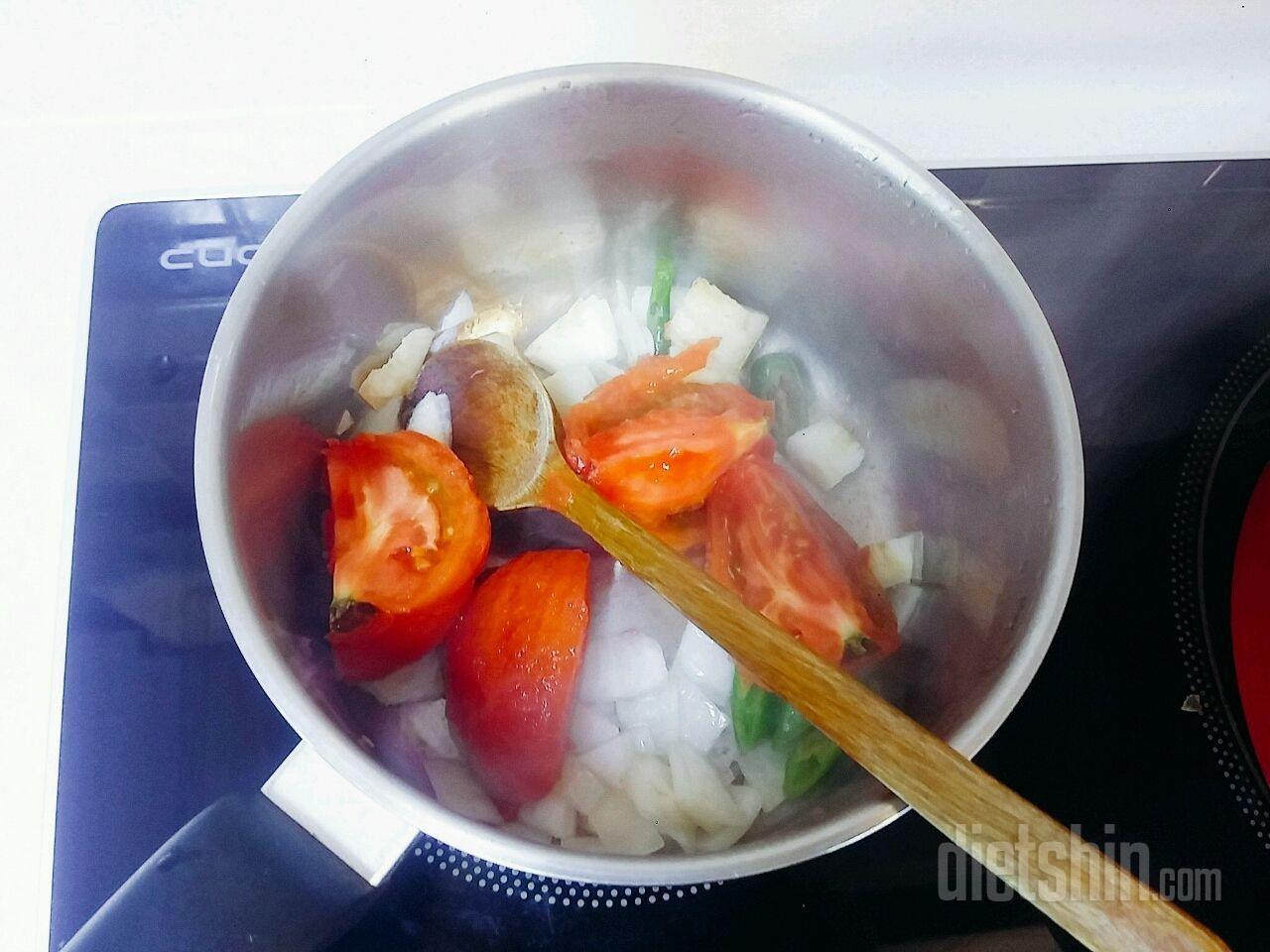 다이어트식 토마토스튜 에그인헬 224칼로리