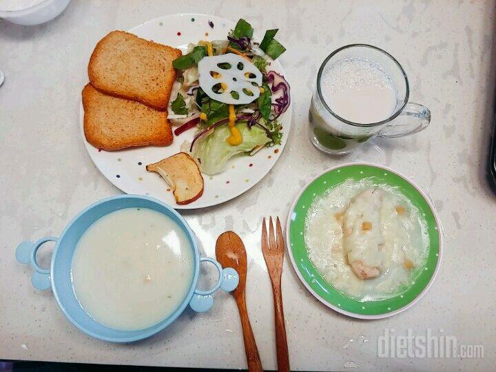 100칼로리 초간단 닭안심스테이크+크림스프
