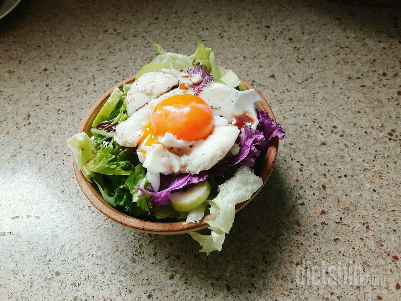 [297kcal 저칼로리]밥+달걀샐러드