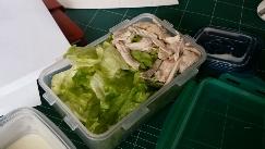 오늘 점심! 닭가슴살 샐러드 양많이!