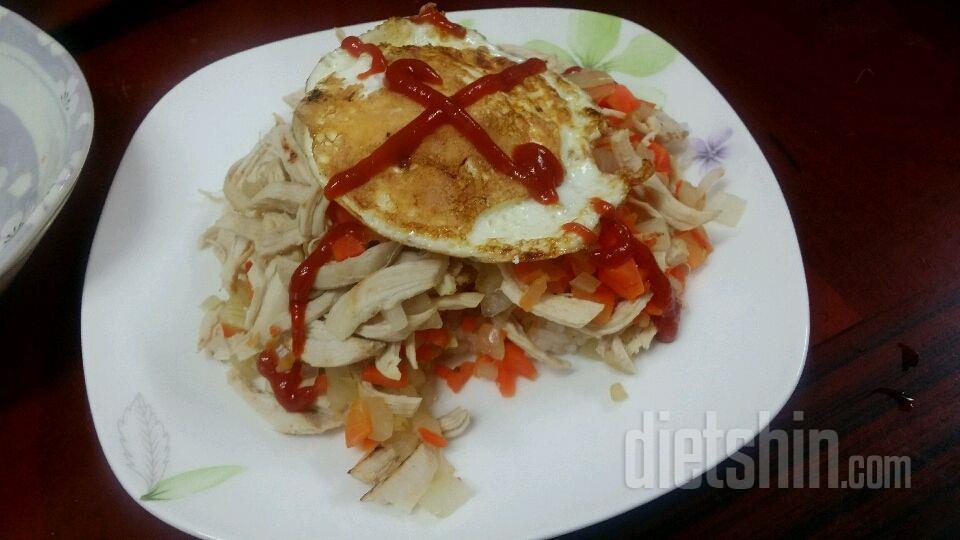 닭가슴살 계란 덮밥