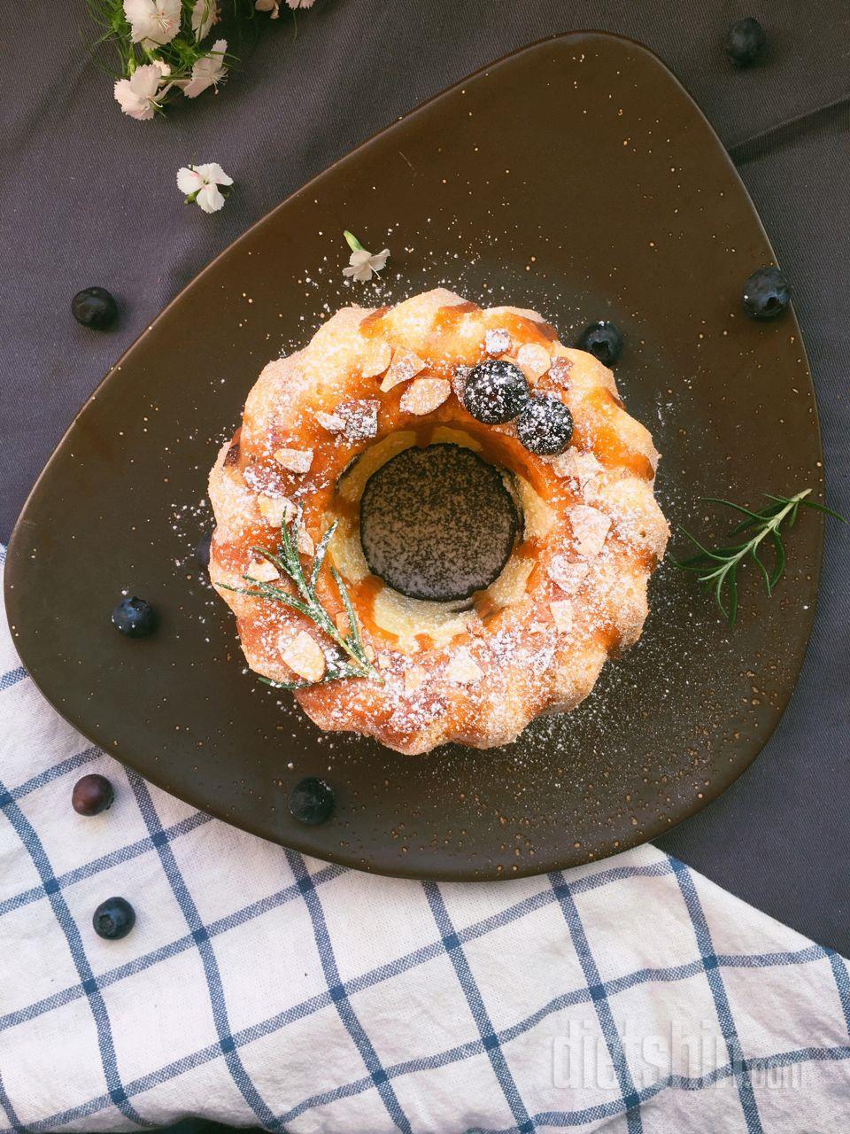 버터대신 코코넛오일로풍미를 더한 블루베리 파운드케익!