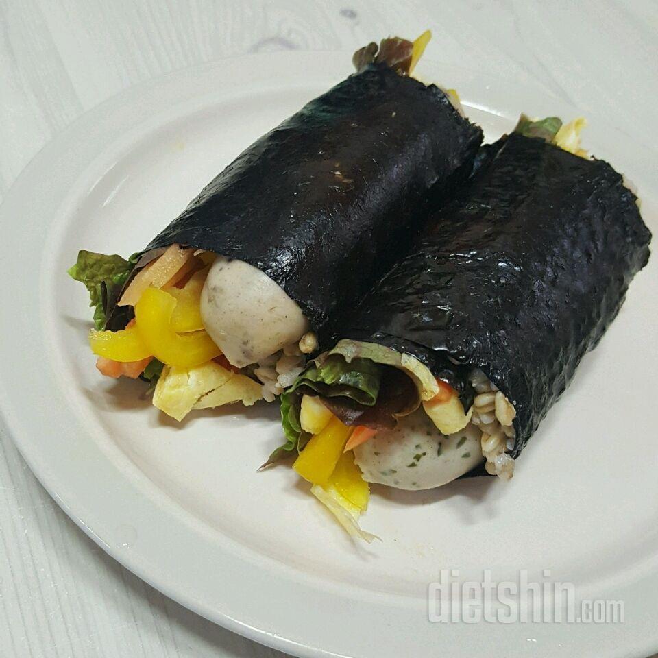 닭가슴살소시지 야채김밥