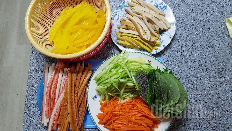 곤약쌀김밥만들기