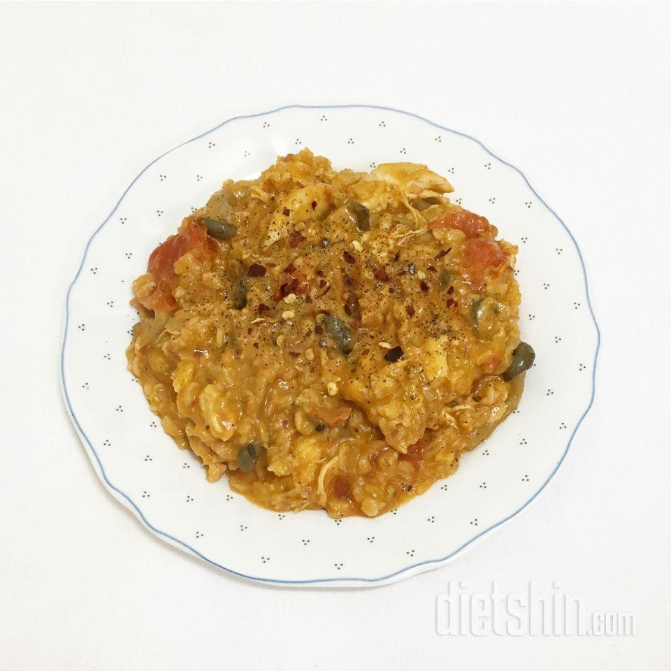 토마토 오트밀리조또!