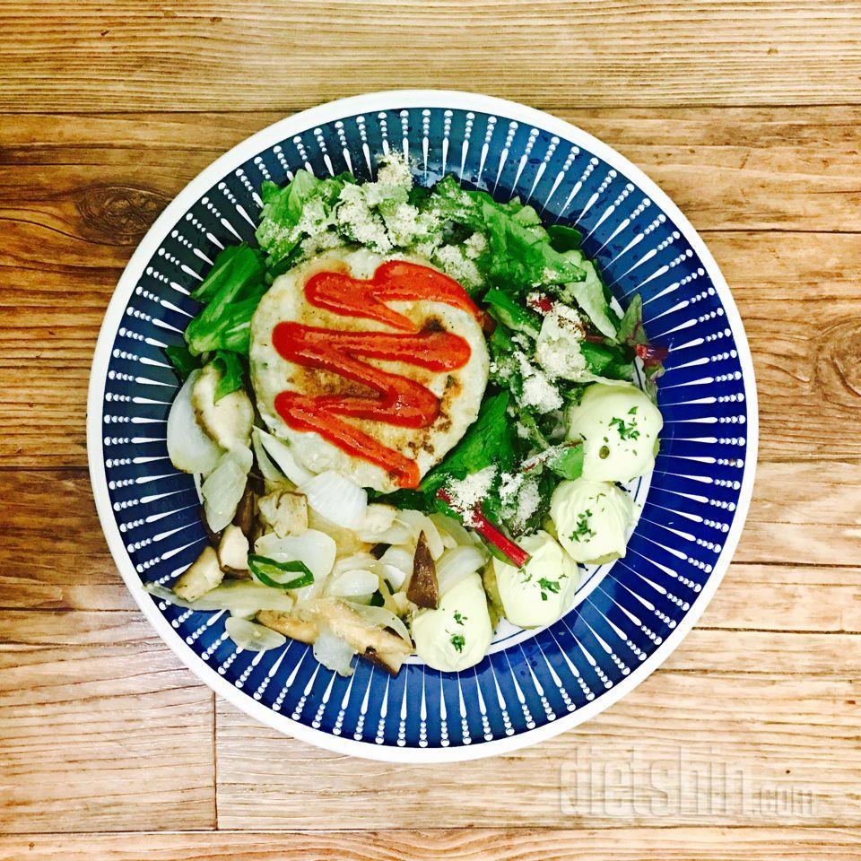 고구마 치즈볼+ 닭찌스테이크
