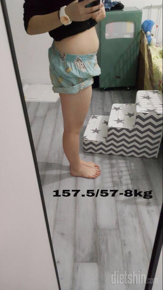 157.5cm/ 58kg👉🏻46kg