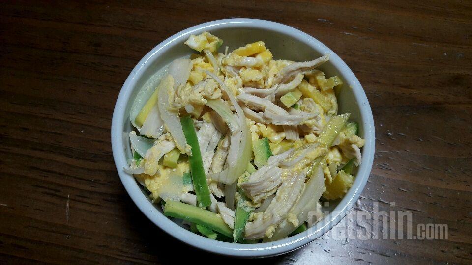 닭가슴살 애호박덮밥