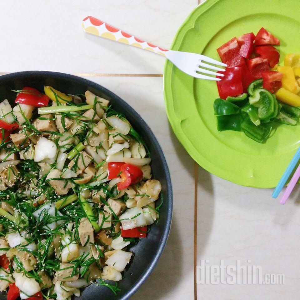 맛있는 다이어트레시피 2. 닭가슴살 야채볶음💚🌿