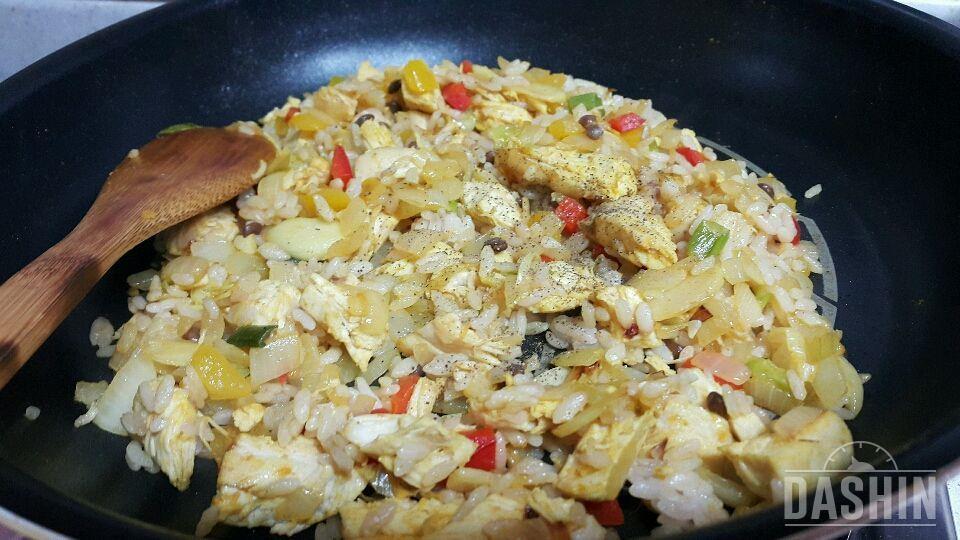 닭가슴살 카레볶음밥 만들기!! (350kcal)