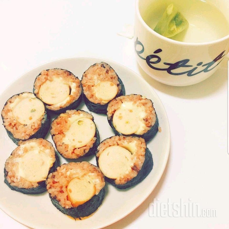 닭가슴살소세지 김밥