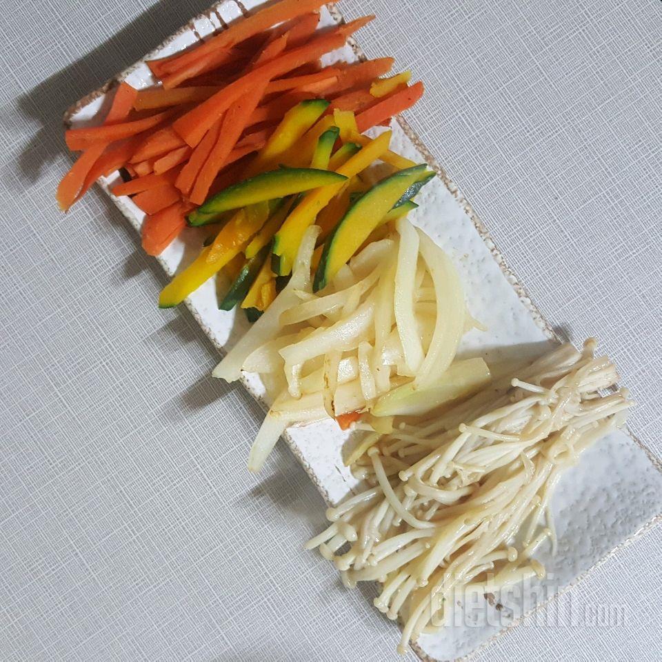 콩고기 곤약 잡채밥