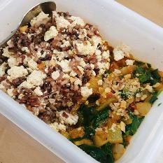 시금치카레두부밥