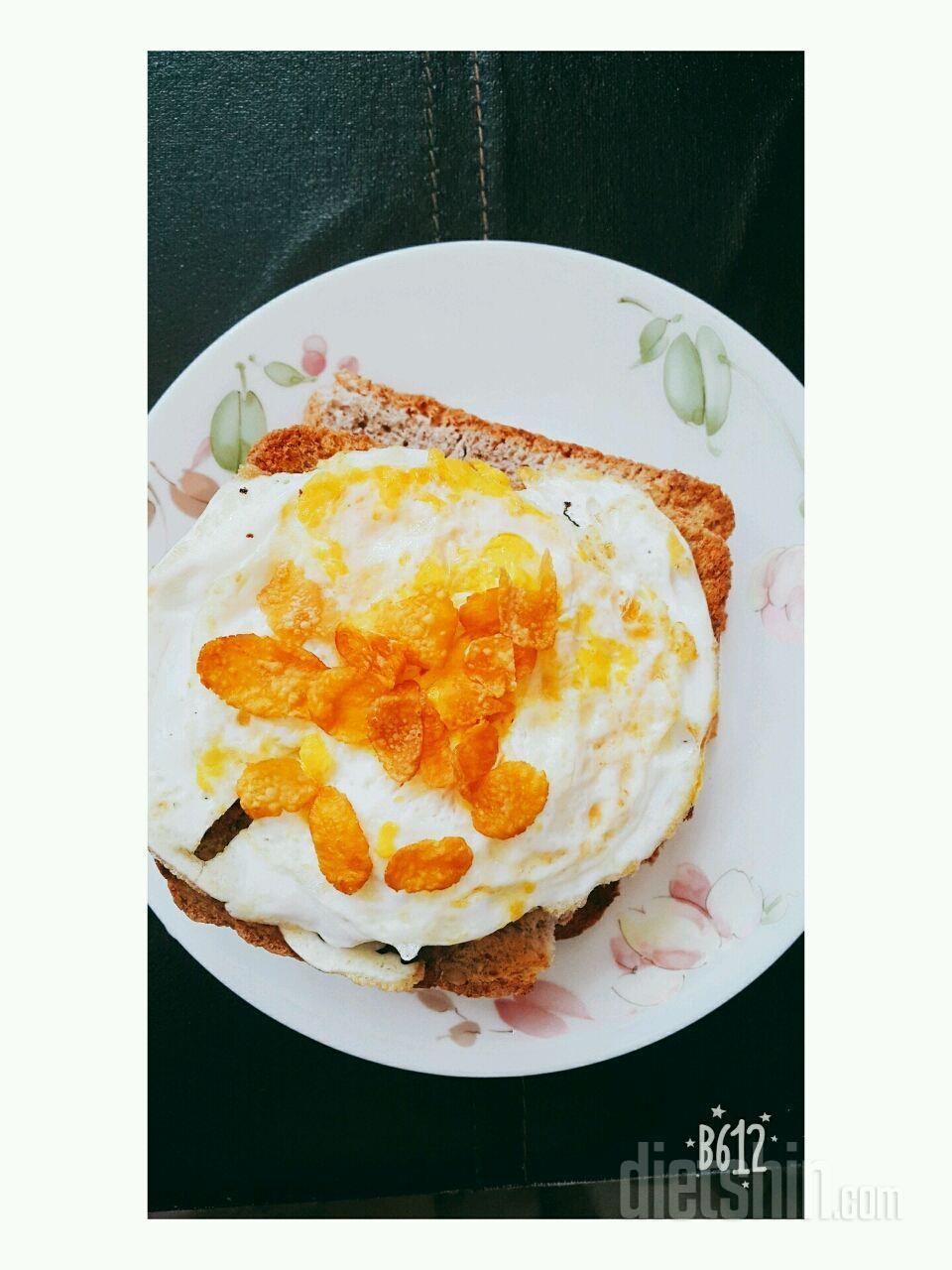 귀찮은 아침에 통밀빵 간단한 토스트