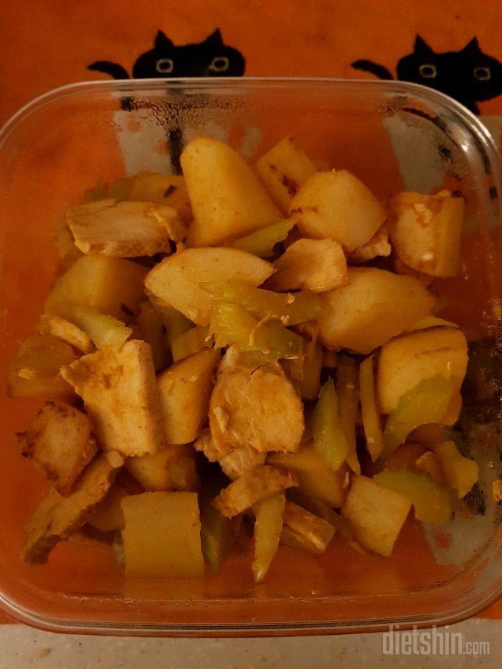 감자 닭가슴살 볶음