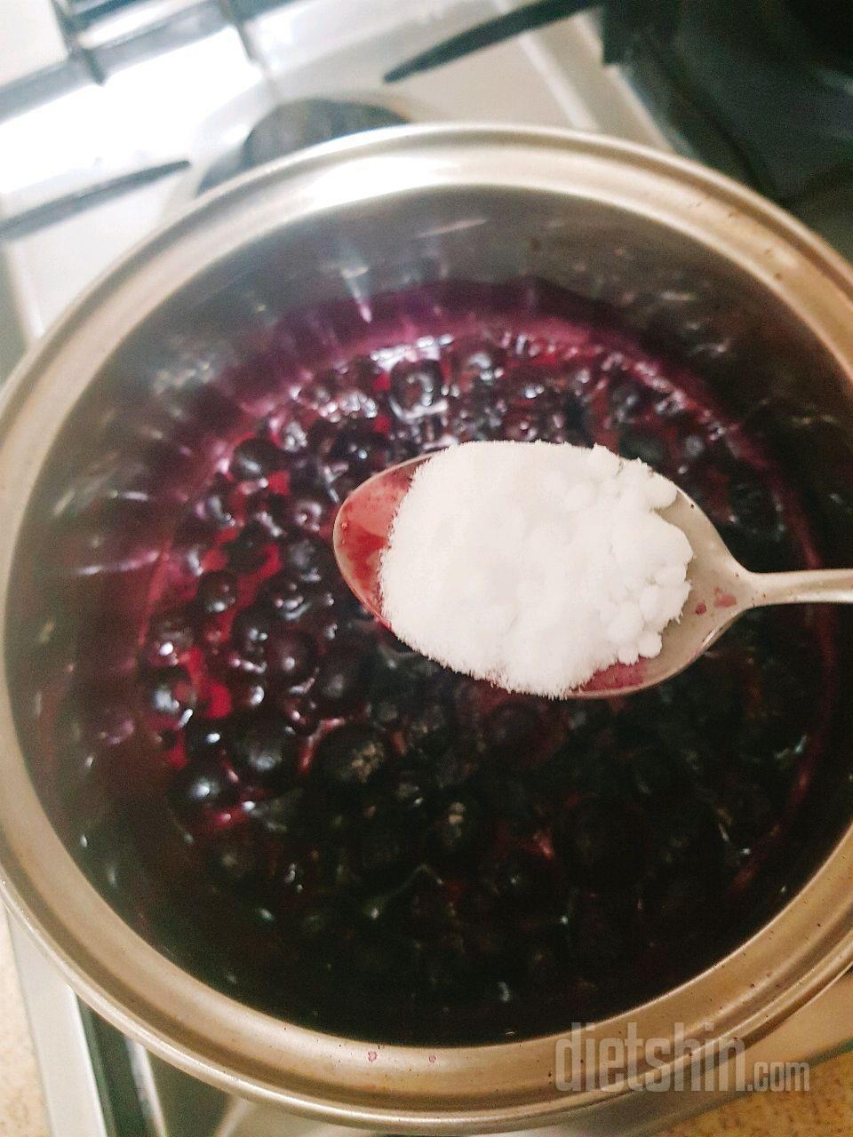 무설탕 블루베리잼 만들기