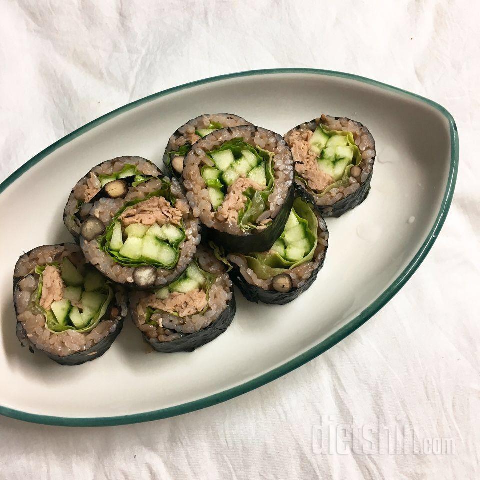 상콤한 오이참치김밥