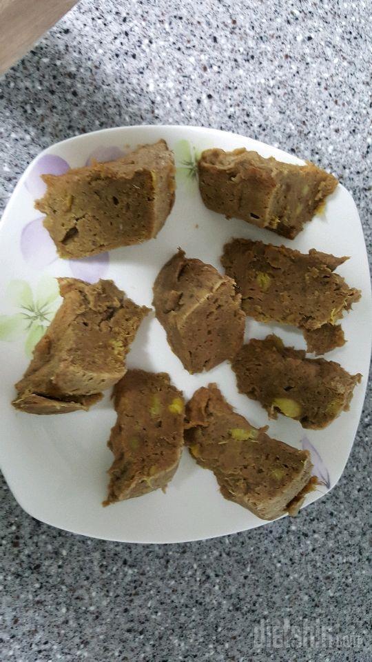 전자렌지 고구마프로틴빵 만들기