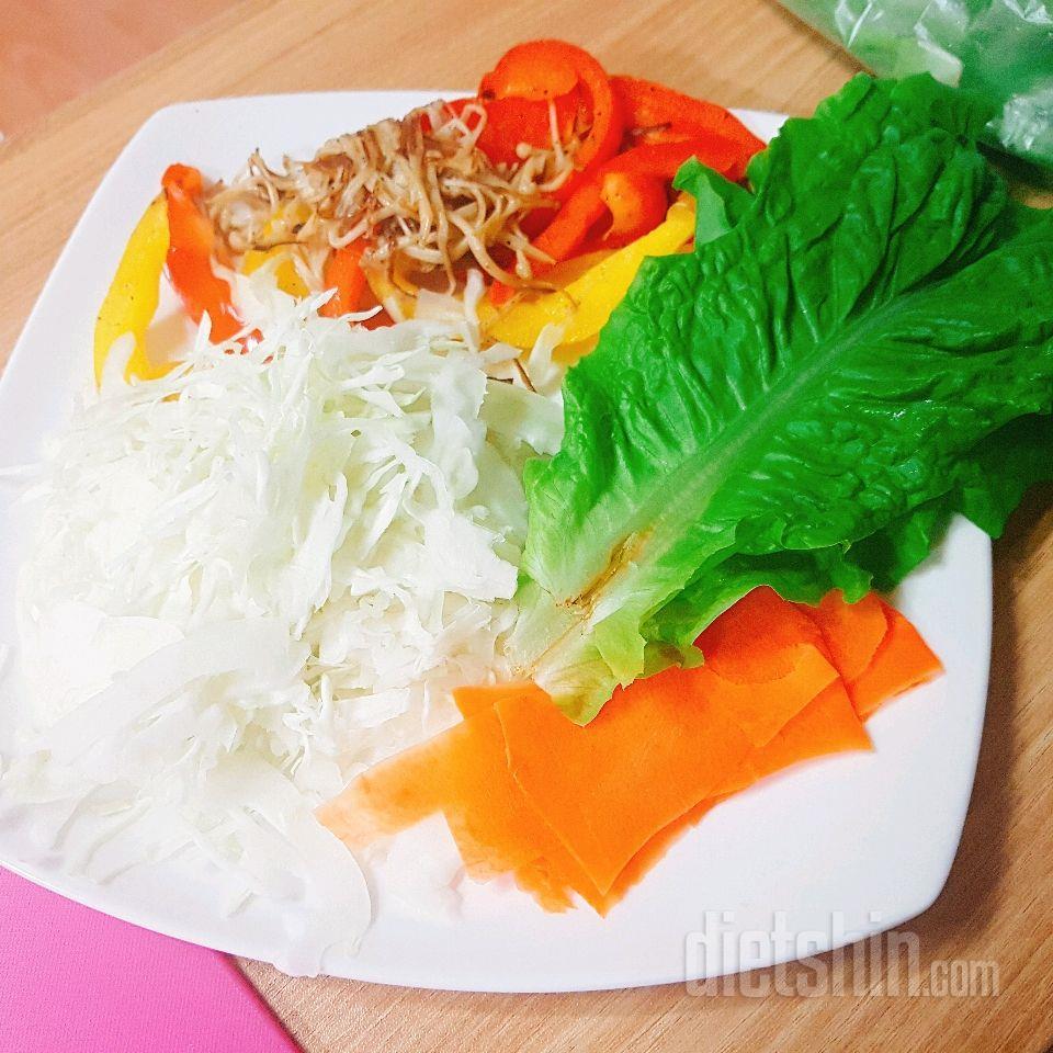 야채만김밥 도전 성공♡♡맛있어용