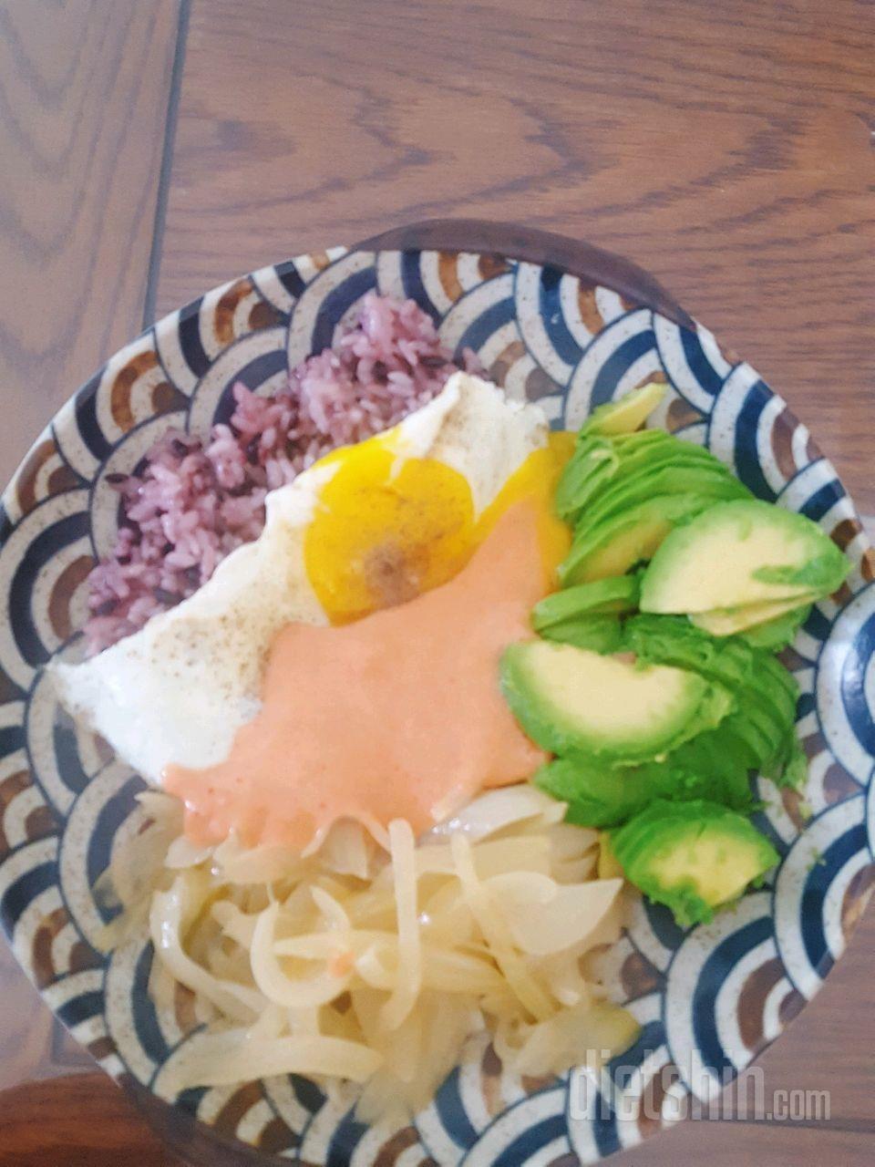 명란아보카도 덮밥