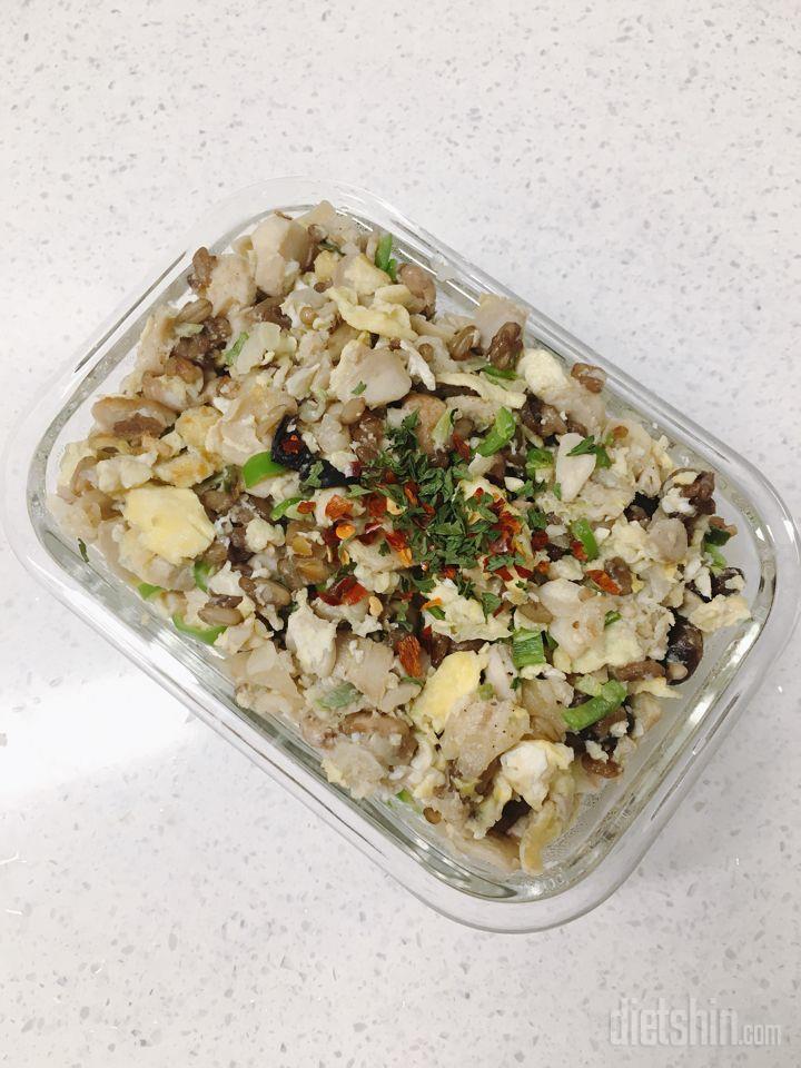 닭가슴살만두밥