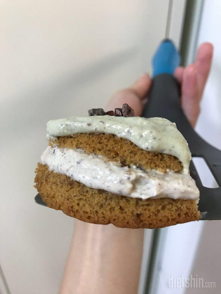 삼색크림 비건케이크를 만들어봤어요➰