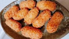 식감 좋은 '닭가슴살 감자 고로케'!