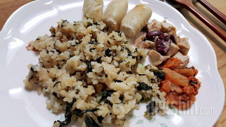 시래기밥&소시지