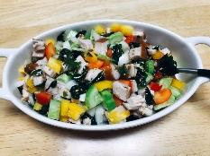 미역닭가슴살야채 초무침