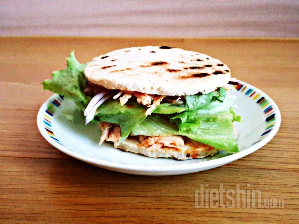(250칼로리) 빵 없는 닭닭 샌드위치? 햄버거?