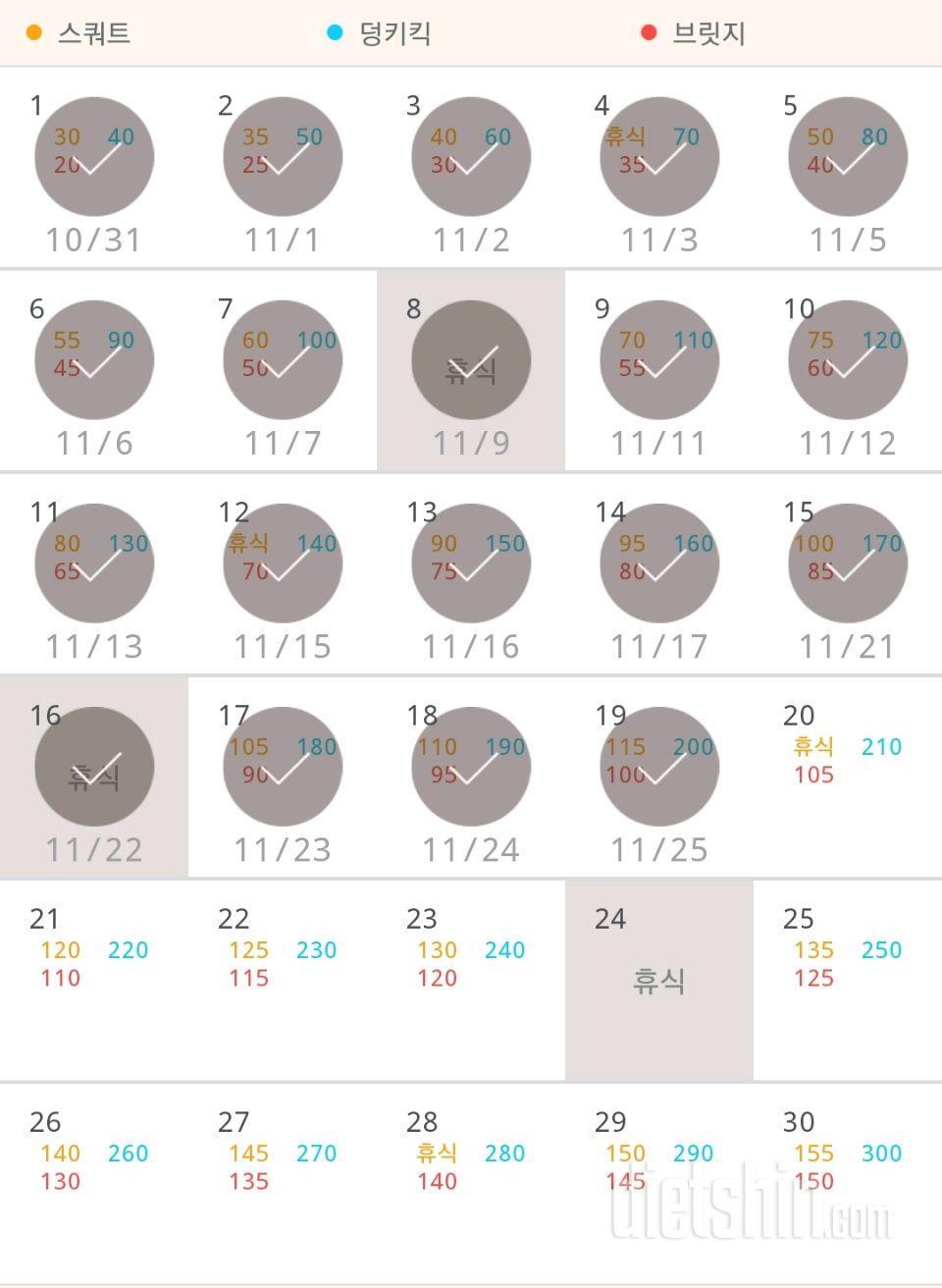 30일 애플힙 49일차 성공!