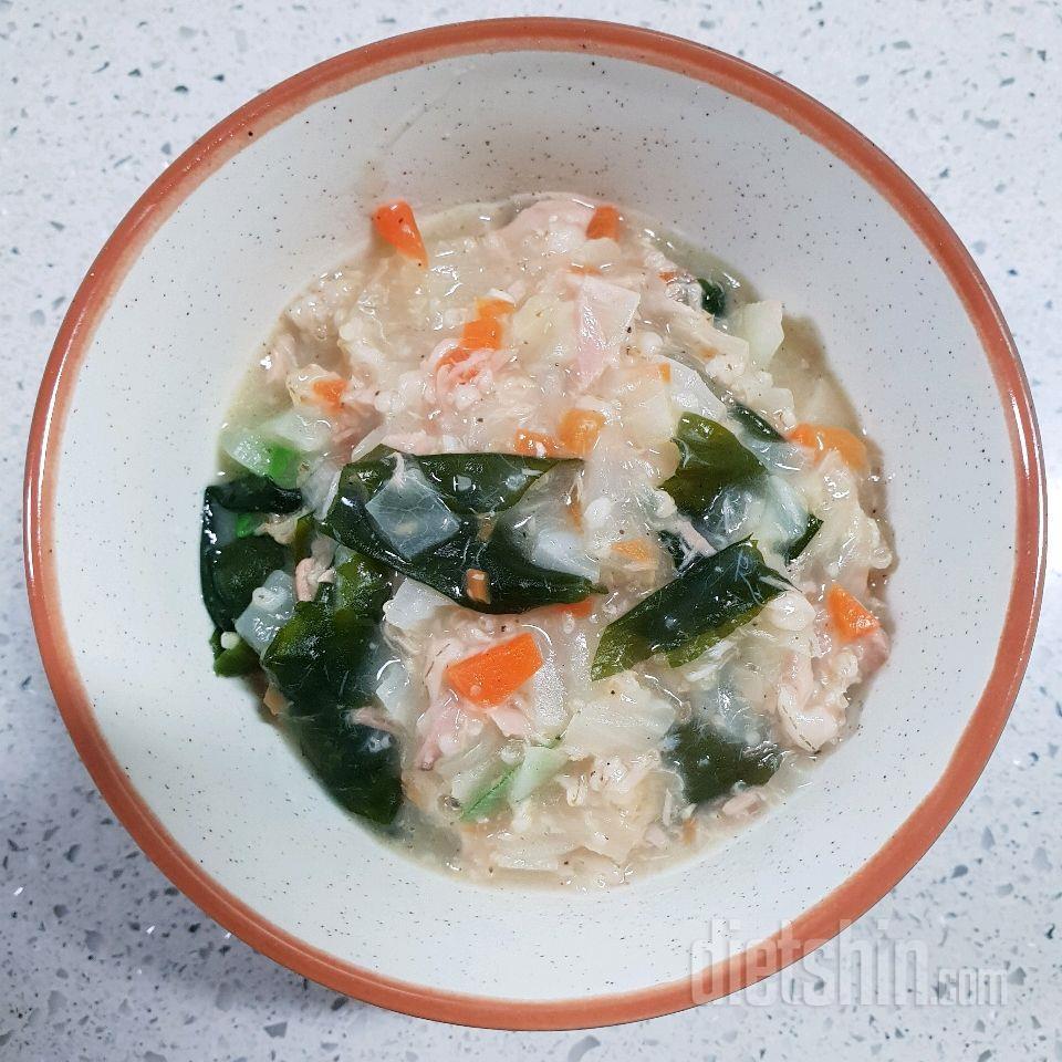 참치미역야채오트밀죽