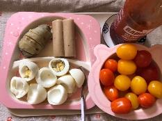 고구마와 단호박에서 현미밥으로 바꿨어요!