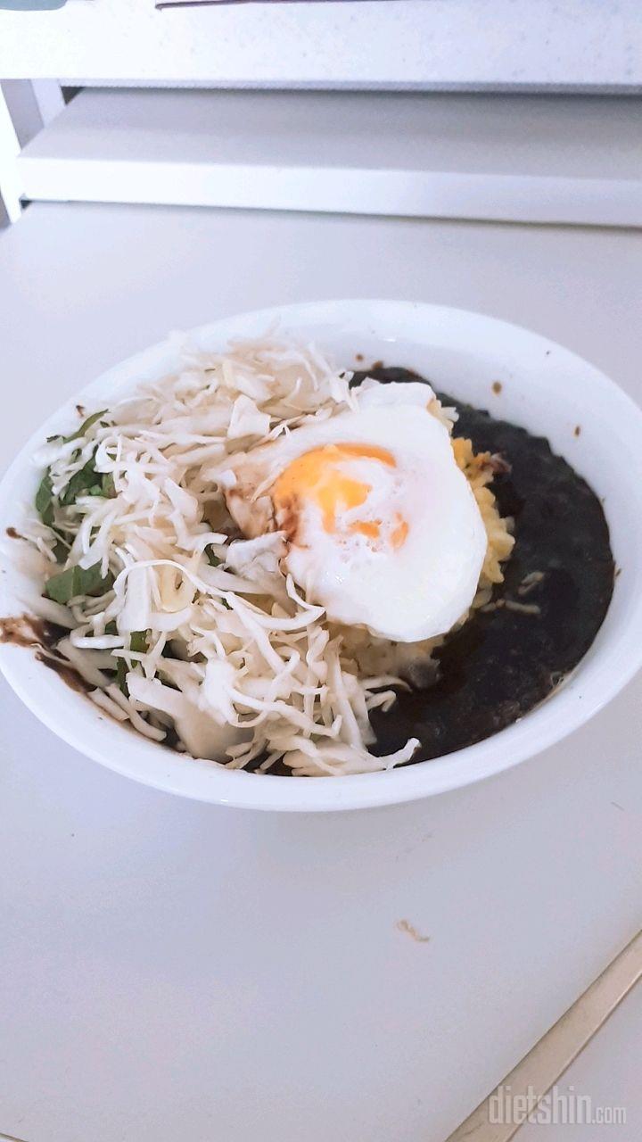 단백질 많은 짜장밥