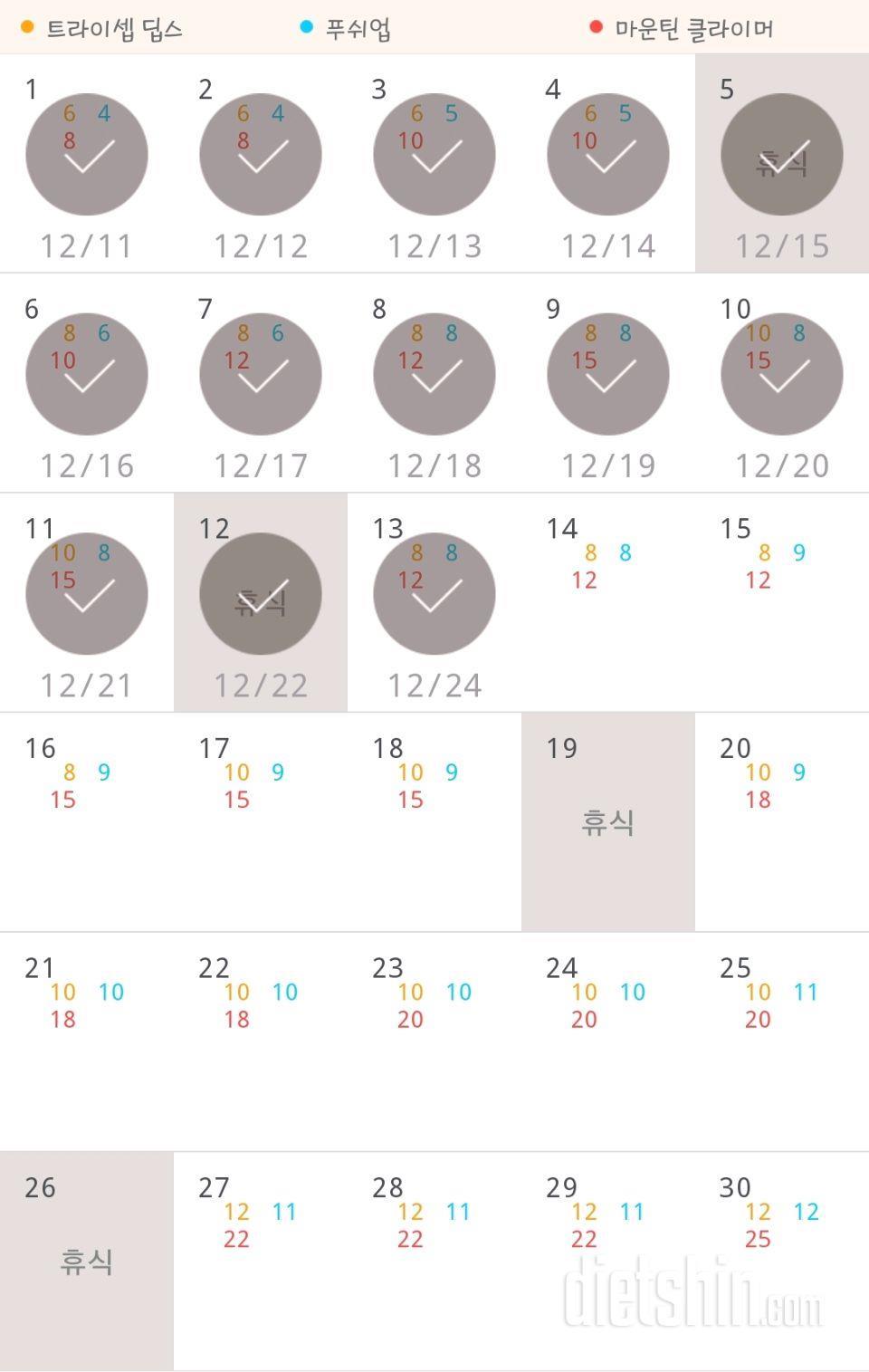 30일 슬림한 팔 13일차 성공!