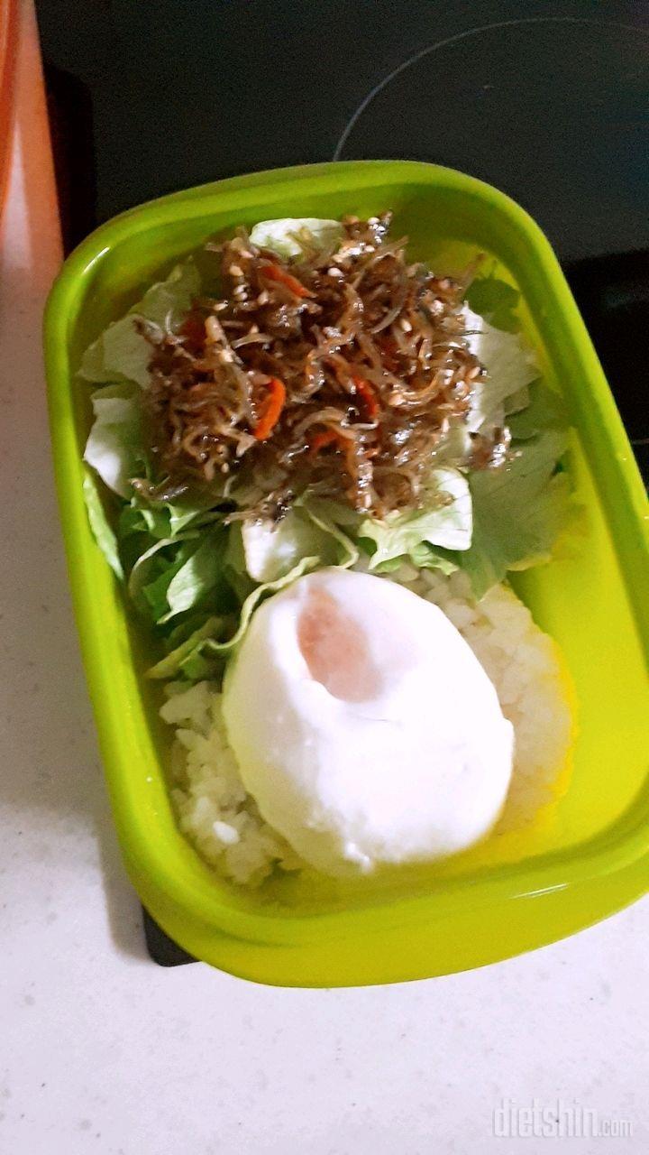 아침밥 낫또멸치비빔밥