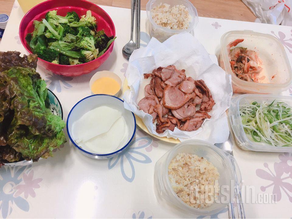 점심 저녁 식단