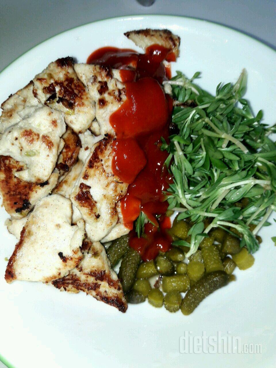 닭가슴살400g+피클+야채