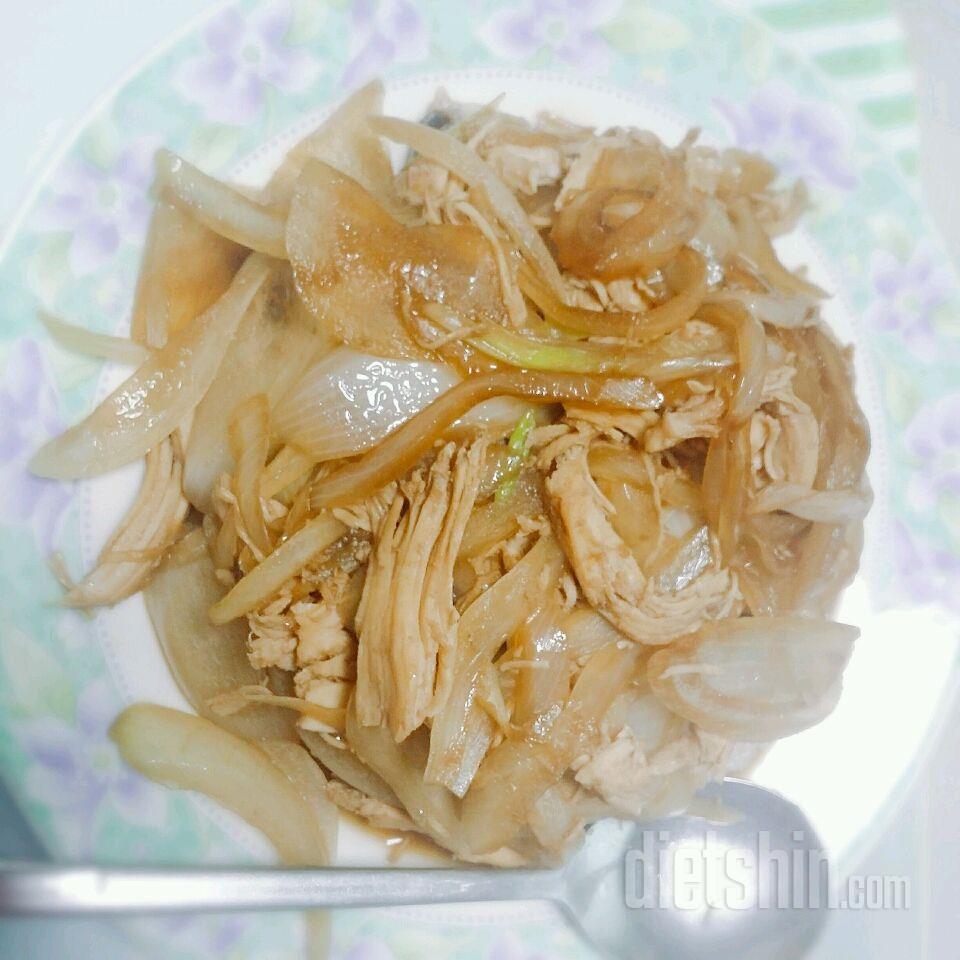 닭가슴살 양파 덮밥