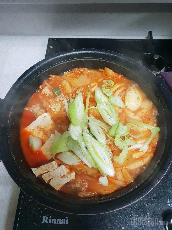 간헐적단식중 삼겹김치찌개