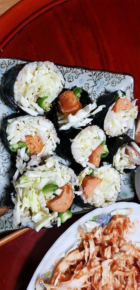 닭가슴살 소세지 김밥